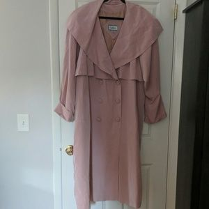 Polyester blend light weight trench coat